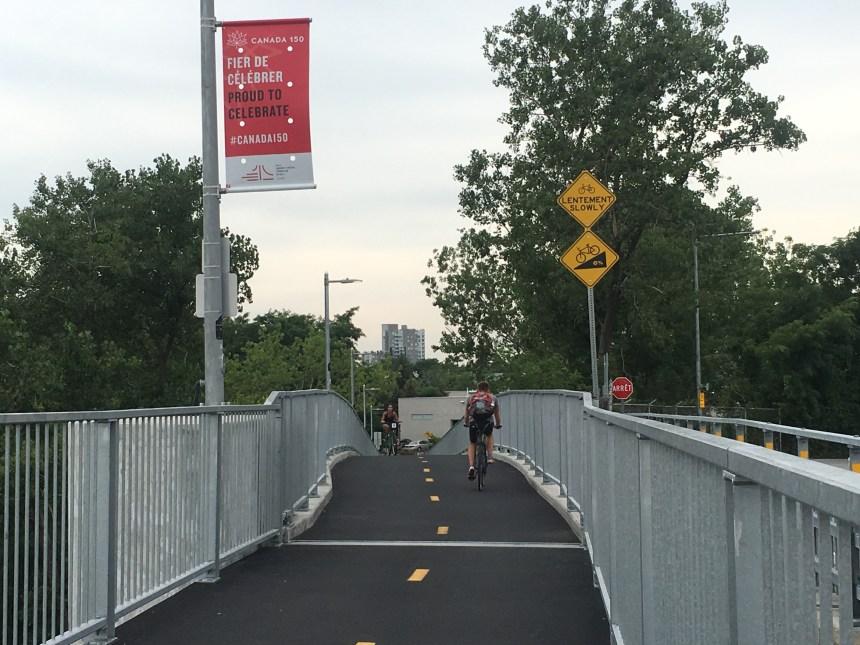 Accident vélo contre piéton sur l'Estacade