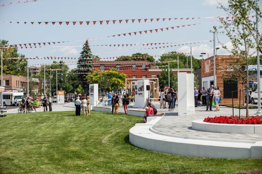 Inauguration de la place Rodolphe-Rousseau: future oasis citoyenne