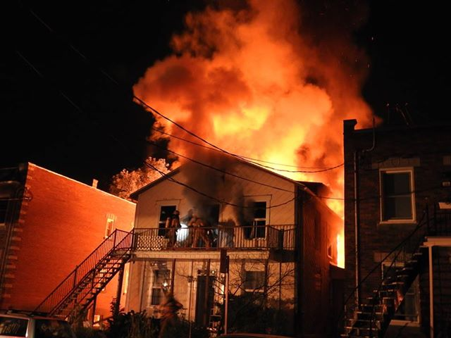 Incendie sur la 1ere Avenue à LaSalle