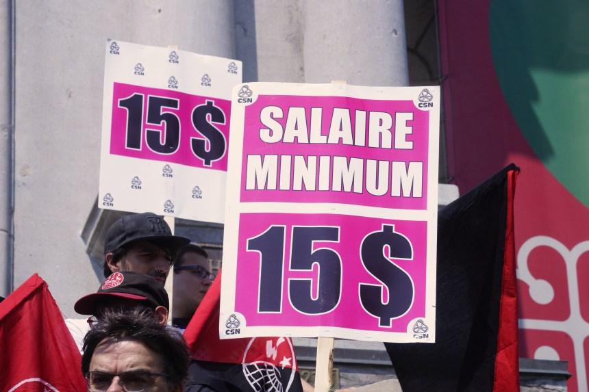 Salaire minimum à 15 $: la campagne est relancée