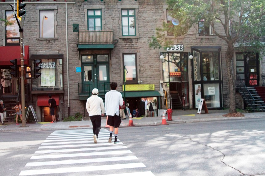 Une nouvelle traverse piétonnière sur la rue Saint-Denis