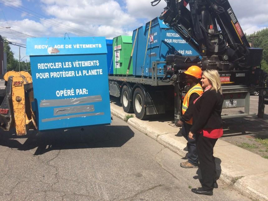 Montréal-Nord retire une quinzaine de boites de collecte de dons non conformes