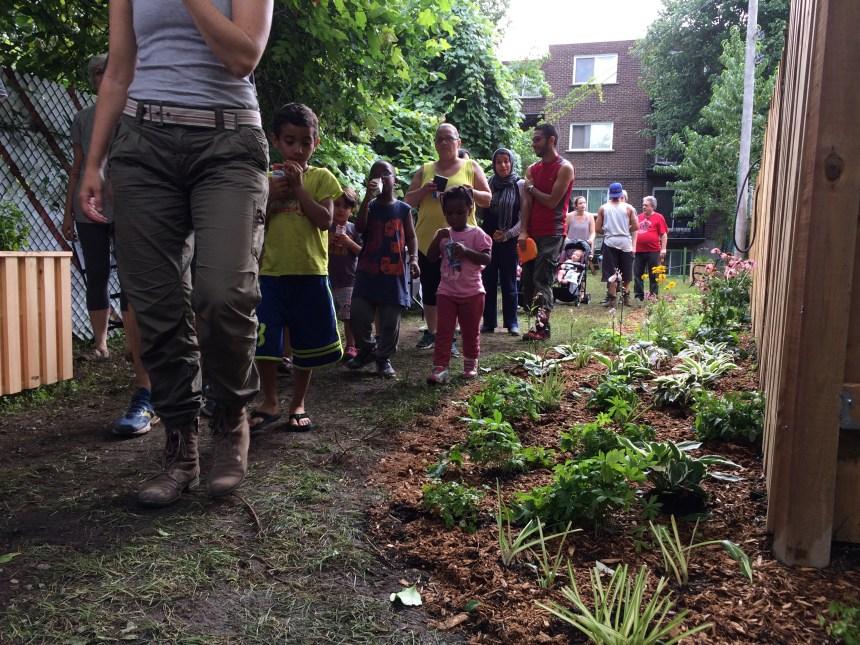 Montréal-Nord inaugure son programme de ruelles vertes