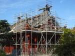 Rénovations sur un de pavillon du Jardin de Chine avant sa rouverture en 2017.