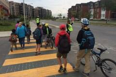 Opération sécurité des écoliers à Saint-Laurent