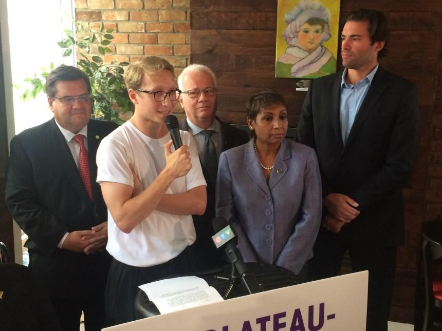 Denis Coderre veut une «réelle alternative» dans le Plateau