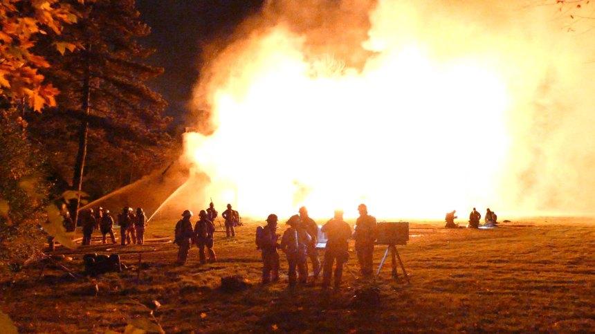 Incendie violent à Senneville