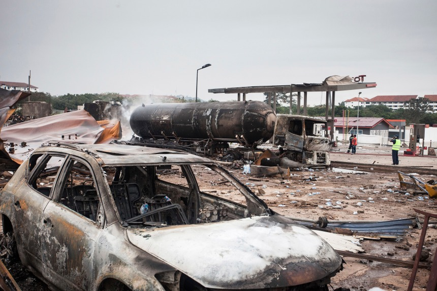 Sept morts dans l'explosion d'une station-service au Ghana