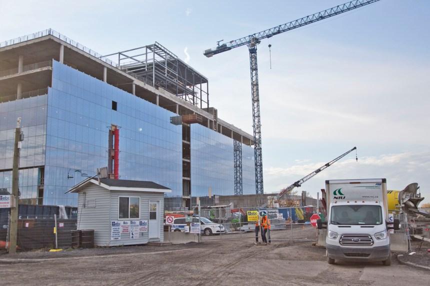 Accident de travail sur le chantier du futur campus de l'Université de Montréal