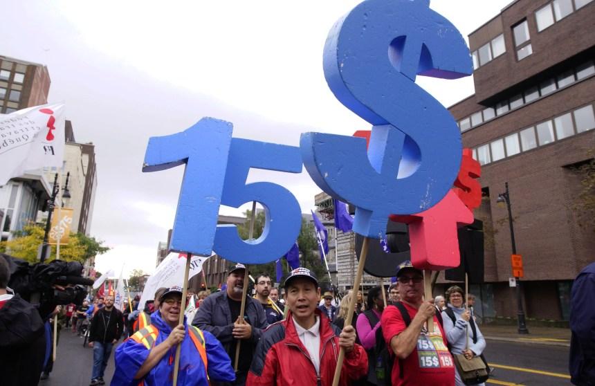 Salaire minimum à 15$: «On ne lâchera pas»
