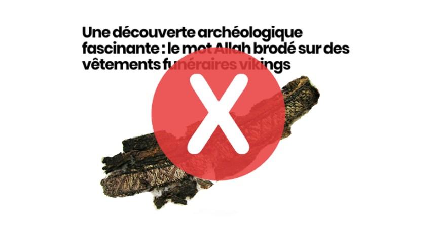 Non, des vêtements vikings ne portent pas l'inscription «Allah»