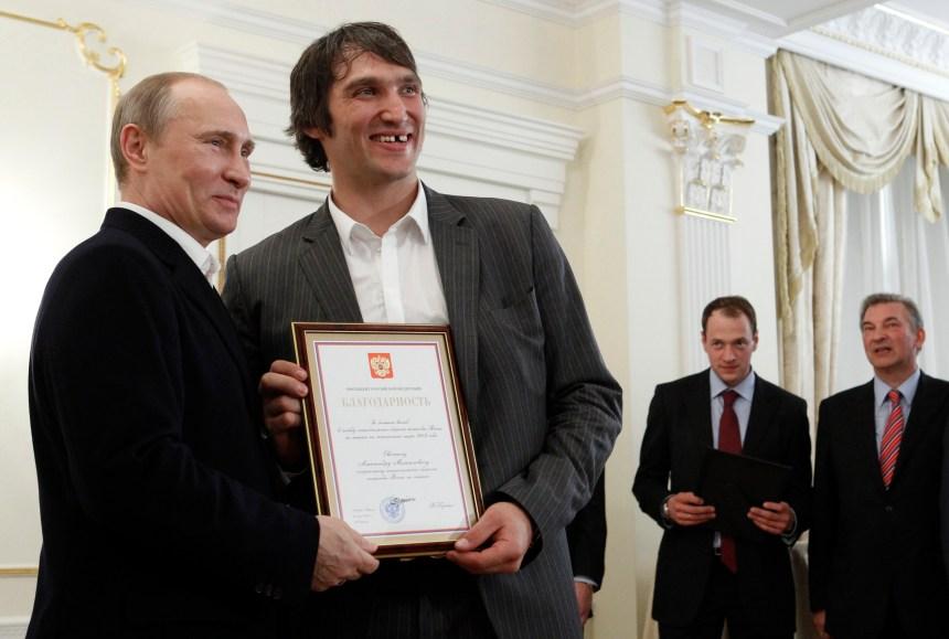 Alexander Ovechkin donne son appui à Poutine