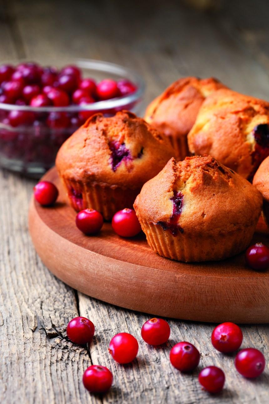 Muffins à la courge et aux canneberges