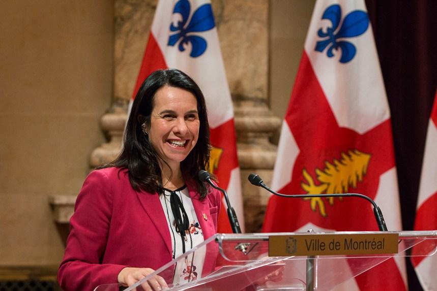 Les Montréalais majoritairement insatisfaits de Valérie Plante, selon un sondage