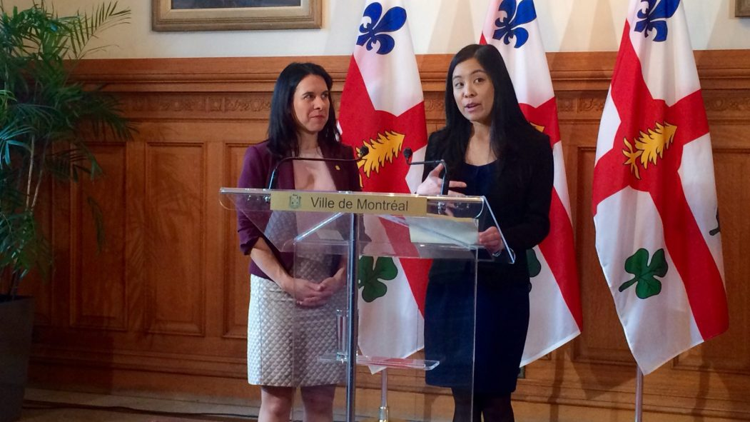 Cathy Wong et Valérie Plante