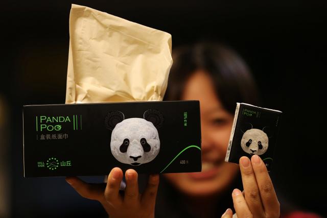 Chine: le caca du panda recyclé en mouchoirs