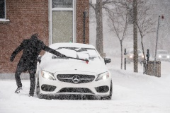 Une première bordée de neige vendredi à Montréal