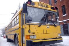 Une heure d'attente dans le froid extrême pour des écoliers