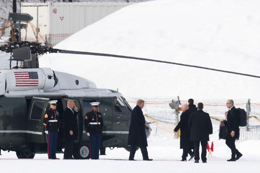 Donald Trump est arrivé à Davos
