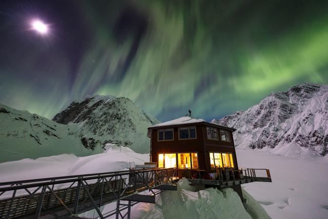 À louer: un luxueux chalet sur un glacier d'altitude en Alaska