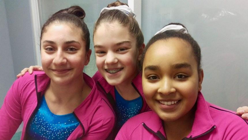 Des gymnastes de Jeune Aire sur le podium