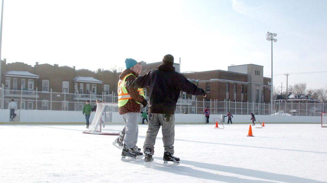 Seulement le patinage libre sera autorisé cet hiver.