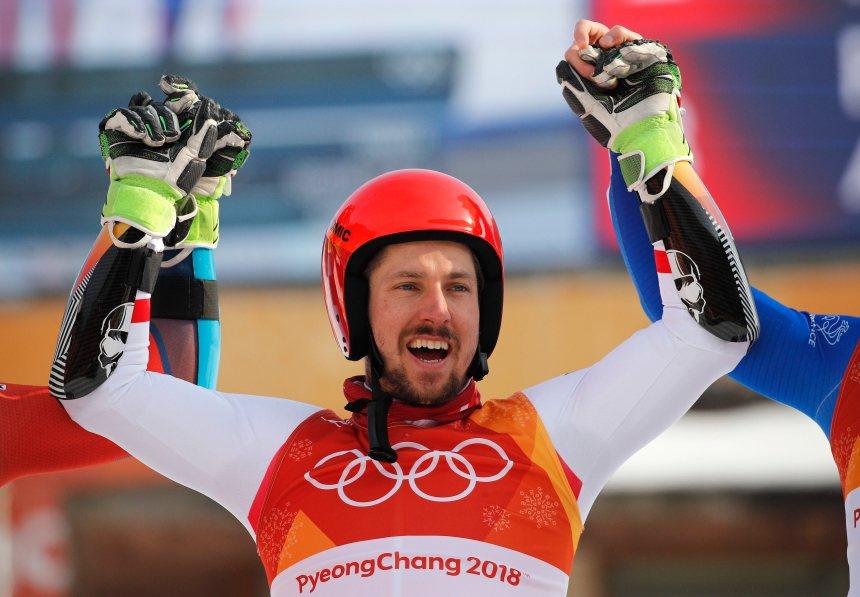Hirscher ajoute à sa fiche l'or en slalom géant
