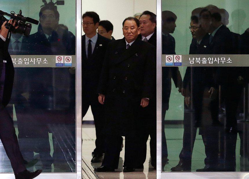 Une délégation nord-coréenne arrive à Pyeongchang