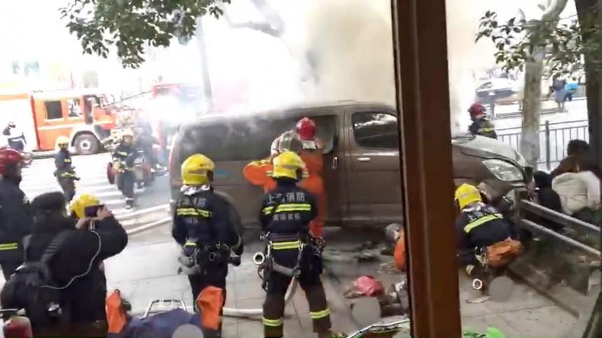 Un accident fait 18 blessés à Shanghaï