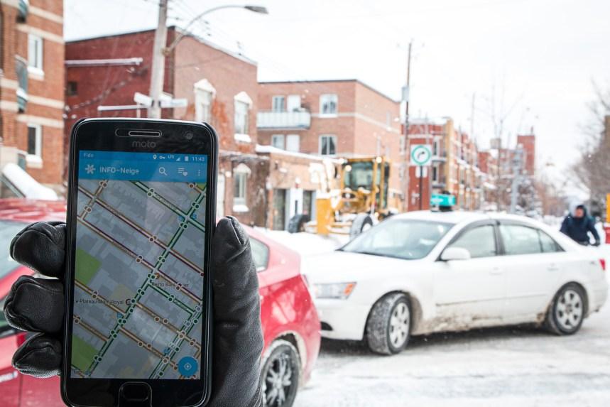 Nouvelle application InfoNeige: les Montréalais plus actifs lors d'opérations de déneigement