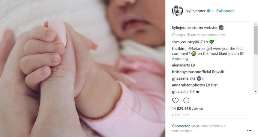 Kylie Jenner pulvérise le record de «likes» sur Instagram