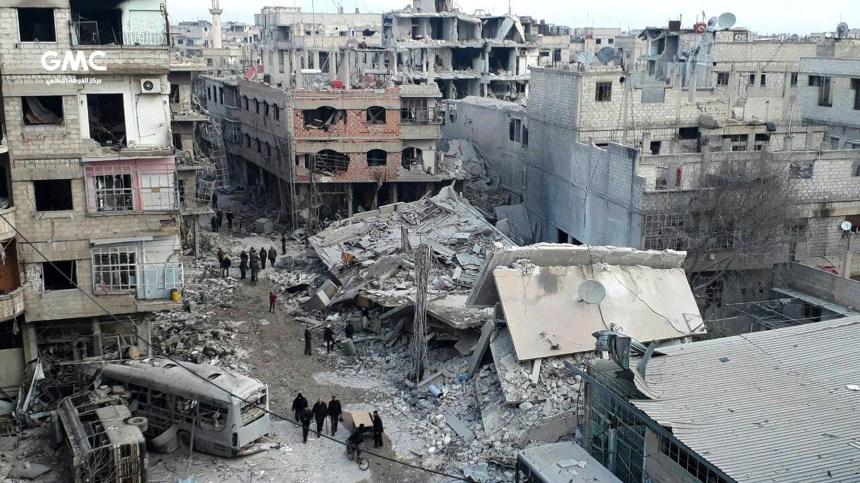 Le bilan dans la Ghouta orientale dépasse 460 morts
