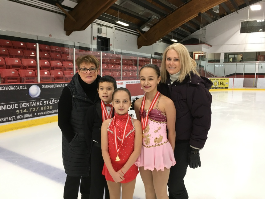Pluie de médailles d'or pour le Club de patinage artistique de Saint-Léonard