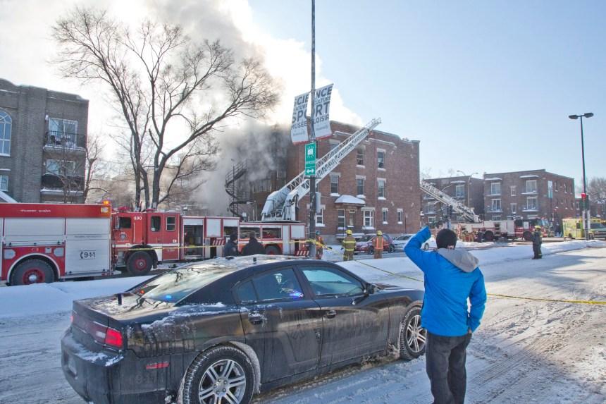 Incendie sur Pie-IX: sept personnes évacuées