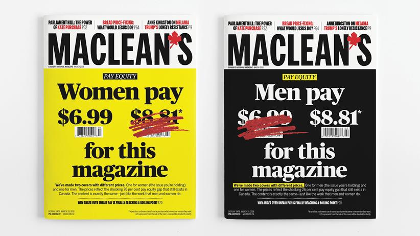 Les hommes paieront plus cher leur Maclean's