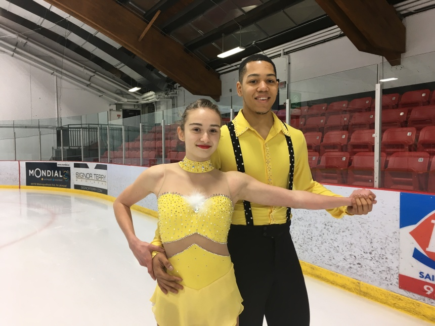Une saison «réussie» pour le nouveau couple de patineurs