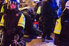 Manifestation contre la brutalité policière: trois arrestations