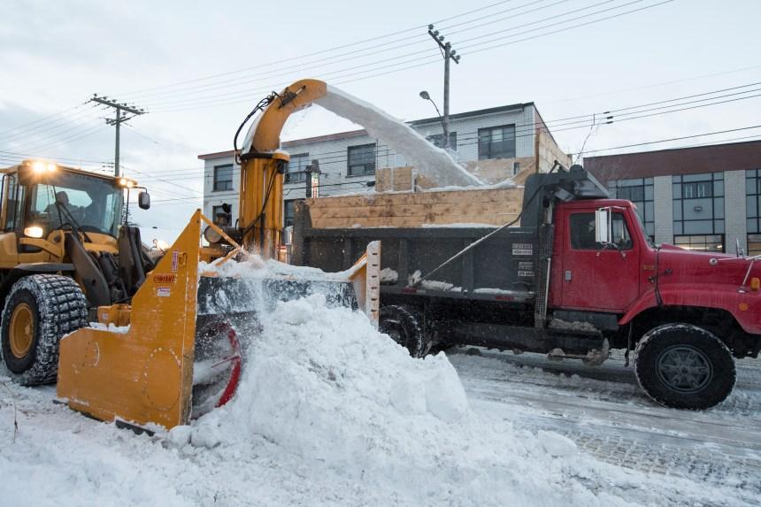 Plus de 25% de la neige ramassée dans les rues de Montréal