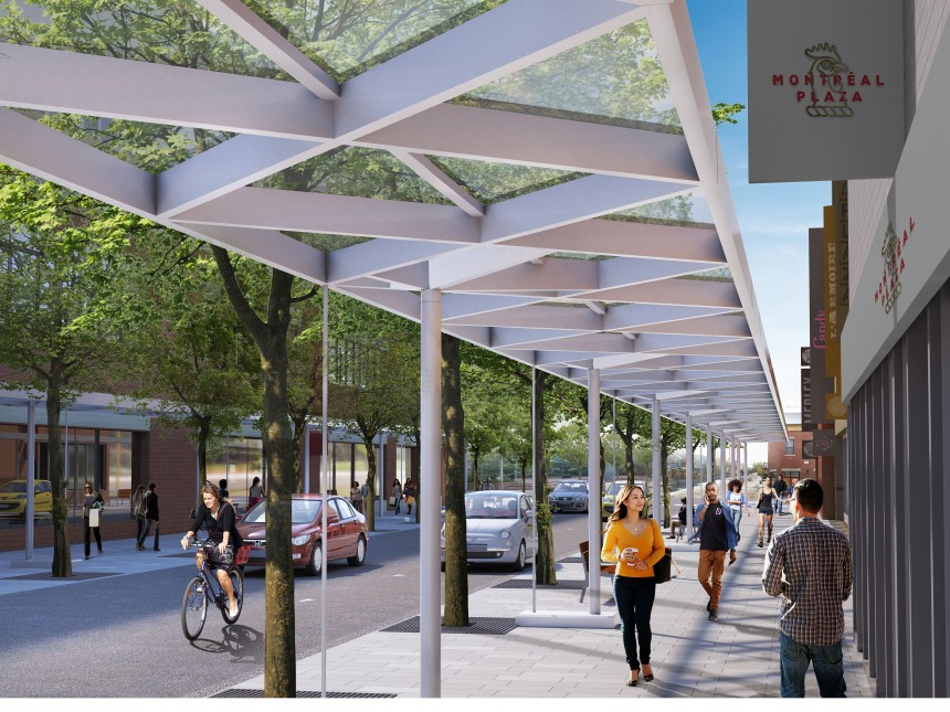 Plaza St-Hubert: La marquise sera discontinue