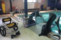 Un ascenseur aquatique à la piscine Lévesque