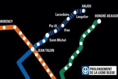 Le prolongement de la ligne bleue en cinq points