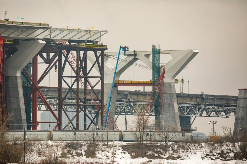 Accès au chantier Champlain