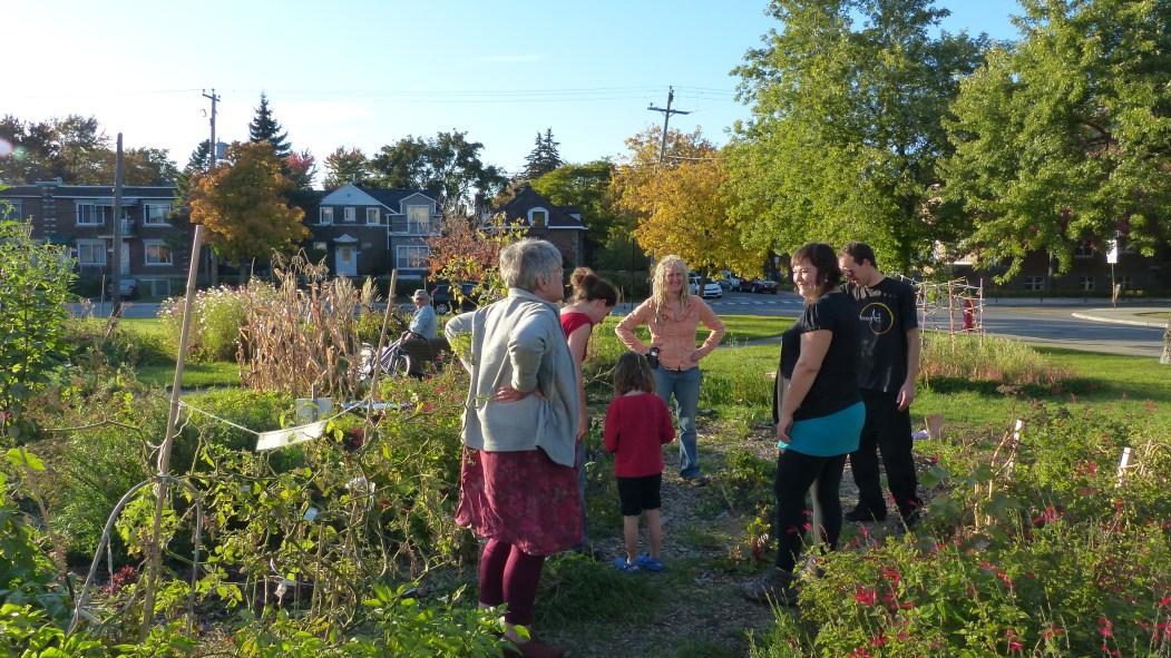 Le Jardin pour tous offrait un lieu de rencontre pour les citoyens.