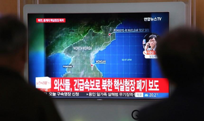 Pyongyang aurait détruit son site nucléaire