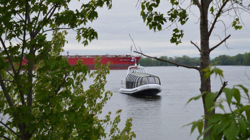 La navette fluviale entre Pointe-aux-Trembles et le Vieux-Port effectue ses premiers voyages de l'été