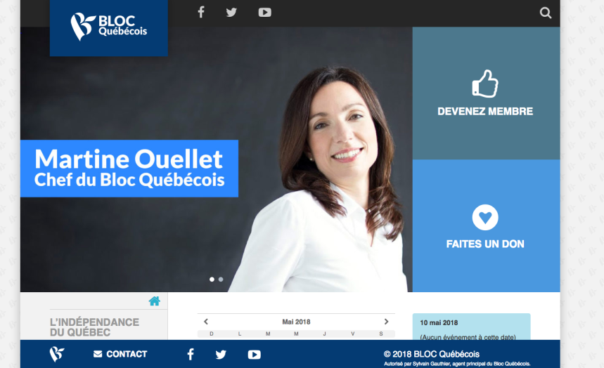 Québec debout: des noms de domaine mènent au Bloc