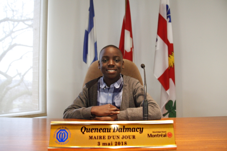 Un jeune plein d'idées élu maire d'un jour à Montréal-Nord