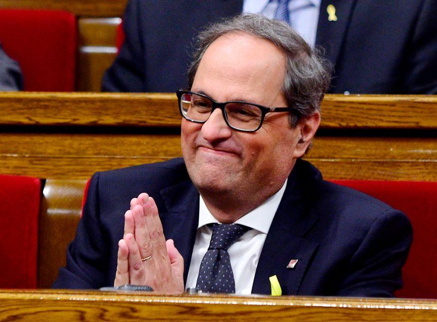 Le séparatiste Quim Torra élu président de Catalogne