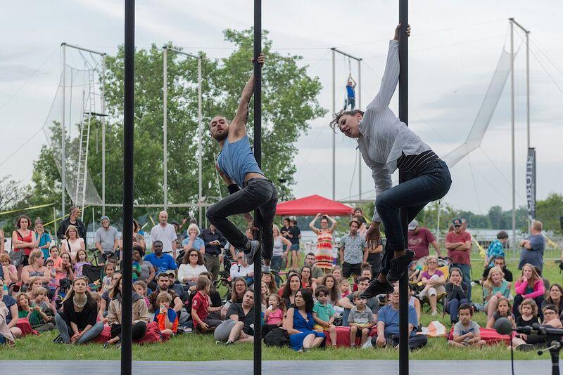 Le parc de la promenade Bellerive sera complètement cirque