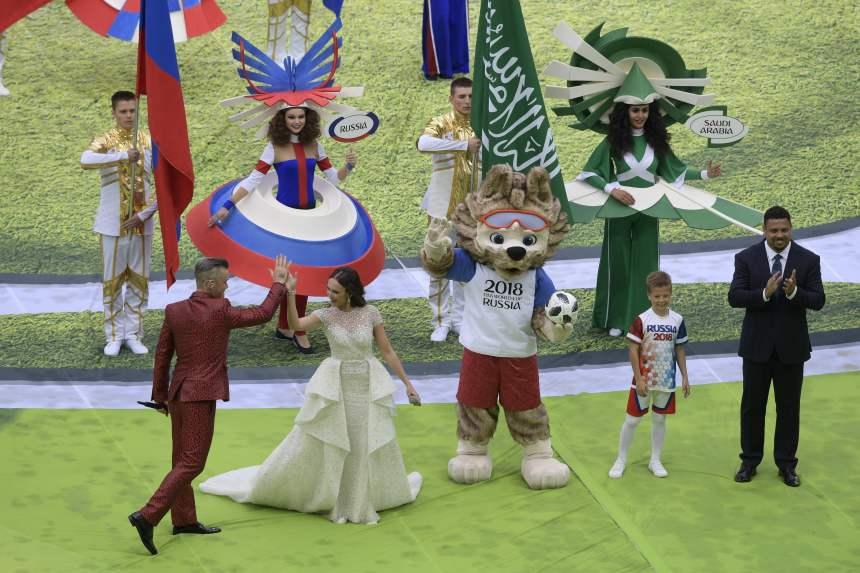 Début de la cérémonie d'ouverture du Mondial-2018